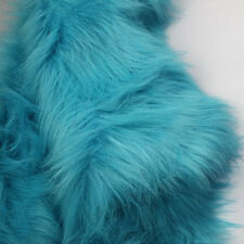 """Blue SHAGGY FAUX FUR FABRIC LONG PILE FUR costumes photography backdrop 60"""" BTY"""