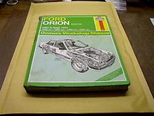 FORD ORION PETROL 1983 - 1990  USED HAYNES WORKSHOP MANUAL