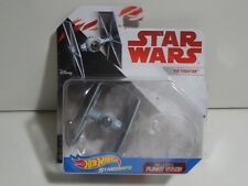 Hot Wheels Star Wars Starships Imperial Tie Fighter W/ Flight Stand Die cast NEW