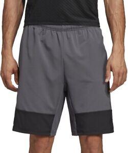 adidas 4KRFT Tech Elevated Mens Training Shorts Grey 10 Inch Gym Workout Short
