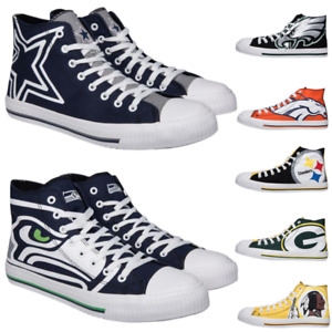 Go Shop Football Team Seahawks High Top Leather Sports Shoes Running Walking Sneakers for Women and Men