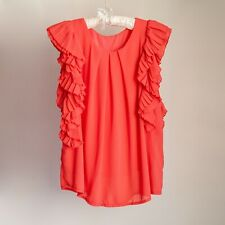 *AS NEW* Coral Red Flowy Top / Blouse – Size M