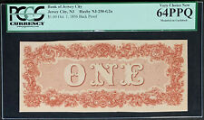 NQC Bank of Jersey City $1 1856 Back Proof (Extremely Rare Proof & Only 2 Known)