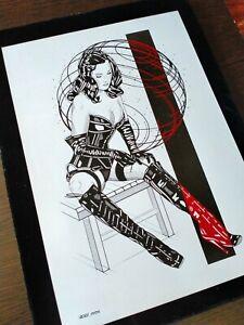 Excellent FEMDOM Dita Von Teese! Erotic art. 100% hand-drawing by max.jiehuh!