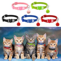 5pcs/lot Suede Puppy Dog Kitten Breakaway Safety Cat Collars Bell Quick Release
