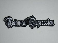 NOCTURNAL DEPRESSION BLACK METAL IRON ON EMBROIDERED PATCH