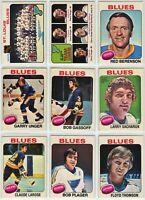 1975-76 OPC St. Louis Blues 19 Card Team Set P to EX+ (05-03202020)