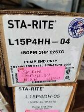 Sta-Rite L15P4HH-04 3 HP-15 GPM - 22 Stage-4 Inch Pump End * New open box*#100