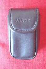 Genuine Nikon Leather Camera Case with Belt loop/clip, black, Velcro