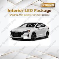 White LED Interior Lights Package Kit for 2017 2018 2019 2020 Hyundai Elantra