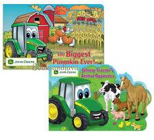 JOHN DEERE Johnny Tractors Animal Opposites & Biggest Pumpkin Ever 2 board books