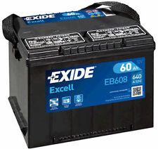 EXIDE Autobatterie Batterie 60Ah - EXCELL EB608 zzgl. 7,50€ Batteriepfand
