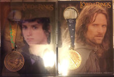 Lord of the Rings Two Towers Oversize Trading Cards with Medals Aragorn Frodo