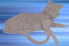 Figur Katzen Tier Skulptur liegend Chillen Polystein Geschenk Vintage Ästhetik