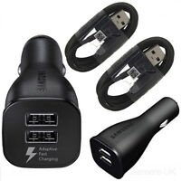 SAMSUNG EP-LN920 DUAL PORT FAST CAR CHARGER + TYPE C CABLE  FOR GALAXY S8 / S9 +