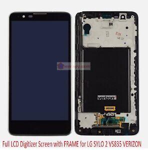 LCD Digitizer Frame Screen Display Replacement for LG Stylo 2 V 2V VS835 Verizon