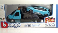 "Bburago 31401 Car Hauler w/Renault CLIO  ""Blue"" - METAL 1:43"