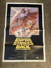 Star Wars The Empire Strikes Back Reissue Original 1980 One Sheet Poster Folded