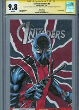 UNION JACK Sketch cover art by MIKE PERKINS CGC SS 9.8 Marvel Avengers Invaders