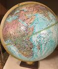 "Vtg Replogle World Ocean Series 12"" Diameter Spinning Globe Rotating Axis USSR"