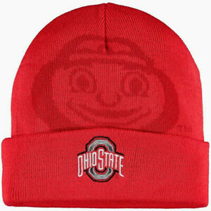OHIO STATE BUCKEYES NCAA RED BEANIE TOP OF THE WORLD OVERSHADOW KNIT CAP HAT NWT