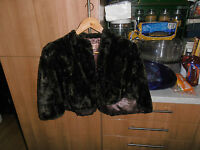 Vintage Beautiful 1960s  Brown Mink Sheared  Fur Cape  by Miss Barry Windsor