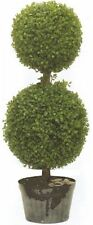 "ARTIFICIAL 34"" TOPIARY TREE DOUBLE BOXWOOD BALL UV OUTDOOR POOL 4 PATIO BUSH 3'"