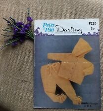 Vintage Peter Pan Knitting Pattern 220 for Baby's Cardigan and Leggings in dk