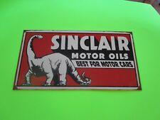 tin metal home garage repair shop man cave decor service station fuel sinclair
