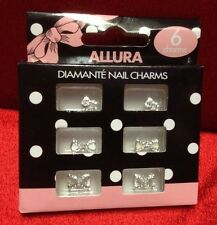 Sparkly Hand Art Diamanté Nail Charms Great For Halloween Or Christmas Parties