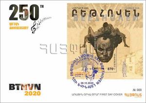 Armenia 2020 Mi 1184 FDC Block106 250th anniversary of Ludwig van Beethoven