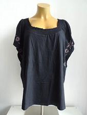 NEU Übergröße tolles Damen Kurzarm Shirt schwarz mit Flügelärmel Gr.52/54,56/58