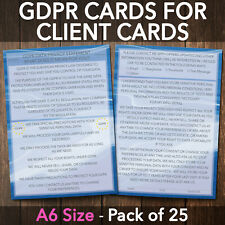 GDPR Card For Client Record Cards Consultation Form PREMIUM x25