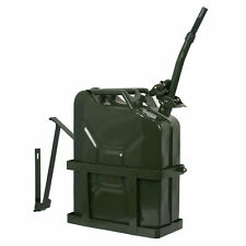 Jerry Can 20L 5 Gallon Steel Tank Fuel Gas Gasoline Army Green With Holder