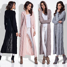 5 Neu Damen Mantel Pullover Cardigan Sweat Strickjacke Sweatshirt Kapuze Wolle