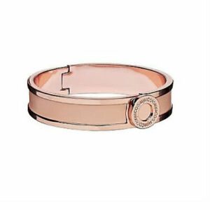 Mimco Narrow Hinged Cuff Pink with Rose Gold Bracelet Bangle RRP $69.95 BNWT