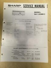 Sharp Service Manual for the SA-120MK II Receiver Original