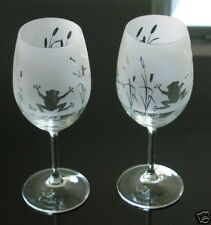 Frog Gift Wine Glasses by Glass in The Forest
