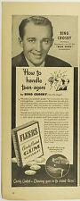 Vintage 1946 FLEER CHEWING GUM Large Half-Page Magazine Print Ad - BING CROSBY