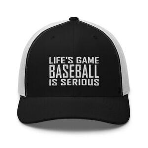 Funny Baseball Player Fan Embroidered Trucker Hat - Baseball Lover Clothing Cap