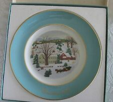"Avon 1973 Christmas Plate ""Christmas on the Farm"" 1st Edition Wedgewood."