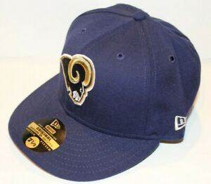 NWT NFL St. Louis Rams New Era 59FIFTY Fitted Navy Baseball Hat Size 7 3/4