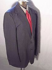 Men's suit with pants Stafford gray with  pinstripe 41 R