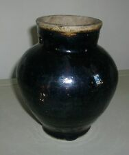 Antique Brown Glaze Chinese Porcelain Thick Glaze Vase Jar Urn Heavy 19th c.