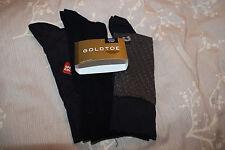 NEW GOLD TOE FASHION Mens 3 Pair Socks COTTON NAVY  SOCKS  6- 12 1/2