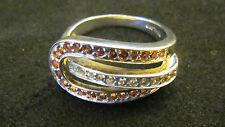 Ring Silber 925 Rodiniert mit Citrinen 50 Größe 15,9 mm