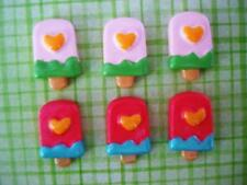 20 Summer Popsicle Resin Flatback Craft Button/bow/Cute/Make Hair Bow/Bead B158