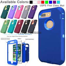 For iPhone 5c SE 6S 8 7 Plus XR 11 Phone Case Hybrid Shockproof Armor Hard Cover