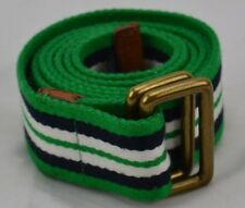 "Vintage Polo Mens Canvas Striped Belt Beautiful Condiiton 47"" W/O Metal Rings"
