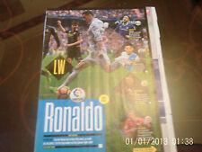 real madrid & barcelona suarez & ronaldo double sided A4 colour picture